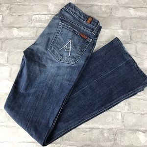 7 For All Mankind A Pocket Jeans Slim Cut Flare 27